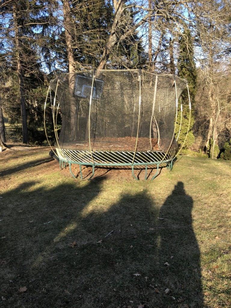 Dumpster Rental Alternative - Old trampoline removal